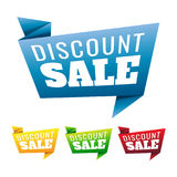 Étiquette de prix discount sur le fond blanc Vente Vecteur IllustDisco Photos libres de droits