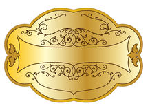 Étiquette de produit d'or Photographie stock