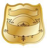 Étiquette de produit d'or Photos libres de droits
