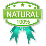 Étiquette de produit naturel ou de nourriture Photos stock
