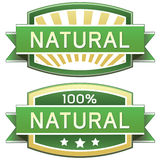 Étiquette de produit naturel ou de nourriture Photographie stock libre de droits