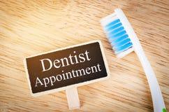 Étiquette de rendez-vous de dentiste photographie stock libre de droits