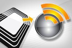 Étiquette de RFID Photos libres de droits