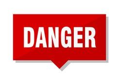 Étiquette de rouge de danger illustration stock