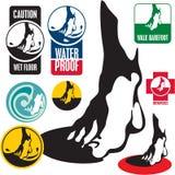 Étiquette de signe de pied Photo libre de droits