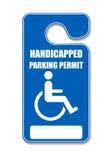 Étiquette de stationnement d'handicap illustration libre de droits