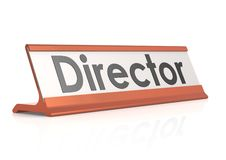 Étiquette de table de directeur Photo libre de droits