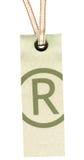 Étiquette de textile avec le lacet Photos stock