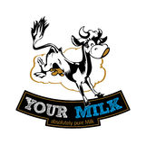 Étiquette de vache à lait Image stock