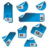 Étiquette de vecteur et positionnement de collant Images stock
