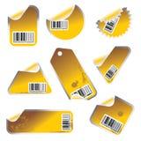 Étiquette de vecteur et positionnement de collant Images libres de droits