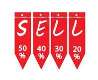 Étiquette de vente Photos stock