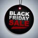 Étiquette de vente de Black Friday illustration libre de droits