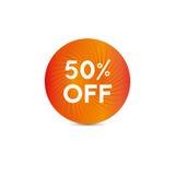 Étiquette de vente Cinquante pour cent hors fonction Vecteur illustration de vecteur