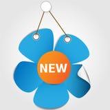 Étiquette de vente de fleur Image libre de droits