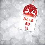 Étiquette de vente de Noël illustration libre de droits