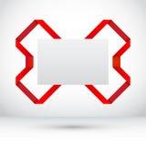 Étiquette de vente et ruban abstraits d'origami Image stock