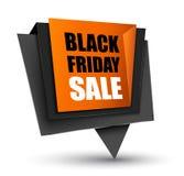 Étiquette de ventes de Black Friday Photos libres de droits