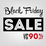 Étiquette de ventes de Black Friday Illustration Stock