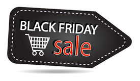 Étiquette de ventes de Black Friday Photographie stock libre de droits