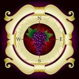 Étiquette de vigne Image libre de droits