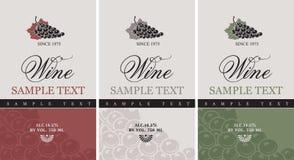 Étiquette de vin Photo stock