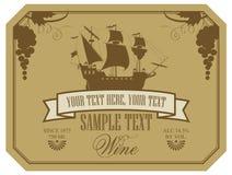 Étiquette de vin Photo libre de droits