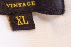 Étiquette de XL Photos libres de droits