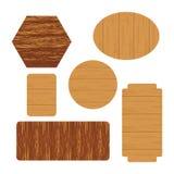 Étiquette en bois de vecteur Images libres de droits