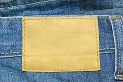 Étiquette en cuir blanc Image stock