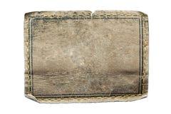 Étiquette en cuir blanc de jeans Photo libre de droits