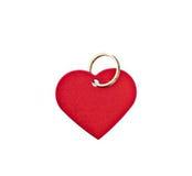 Étiquette en forme de coeur en métal rouge Image libre de droits