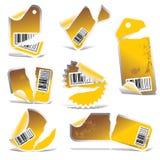 Étiquette et collant déchirés par vecteur   illustration stock