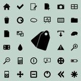 Étiquette l'icône Ensemble détaillé d'icônes minimalistic Conception graphique de la meilleure qualité Une des icônes de collecti illustration libre de droits