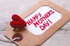 Étiquette le jour du ` s de mère Photos stock