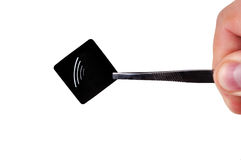 Étiquette noire de rfid Image libre de droits