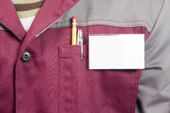 Étiquette nommée sur l'uniforme photo libre de droits