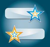 Étiquette ou positionnement de drapeau illustration de vecteur