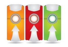 Étiquette ou positionnement de drapeau de site Web illustration libre de droits
