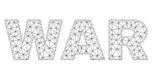 ?tiquette polygonale des textes de GUERRE de carcasse illustration libre de droits