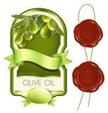 Étiquette pour le produit. Huile d'olive. Images libres de droits