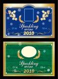 Étiquette pour le vin mousseux Image libre de droits