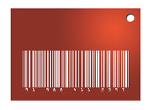 Étiquette rouge de code barres Photographie stock libre de droits