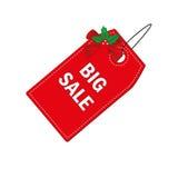 Étiquette rouge de Noël Photographie stock libre de droits
