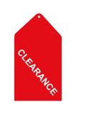 étiquette rouge de vente Photographie stock