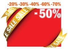 Étiquette rouge de vente dans le vecteur Photographie stock libre de droits