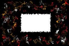 Étiquette simple sur des symboles noirs de contexte et de pirouette illustration stock
