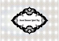Étiquette stylisée de bannière Images stock
