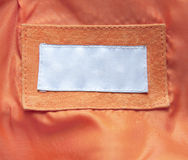 Étiquette sur des vêtements Photo libre de droits