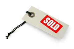 Étiquette vendue Photographie stock